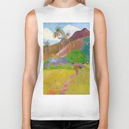 Tahitian Landscape by Paul Gauguin Biker Tank