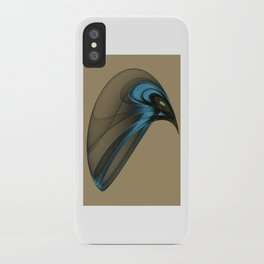 Fractal Bird with Sharp Beak iPhone Case