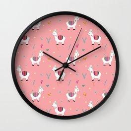 Alpaca-corn Wall Clock