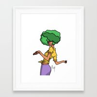 sassy Framed Art Prints featuring Sassy by Hannah  Aryee