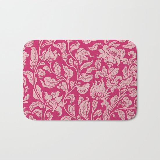 neo ethnic pink Bath Mat