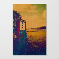 The Old Gas Pump Negative Canvas Print