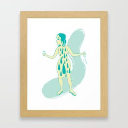 Watergirl Framed Art Print