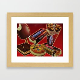 Ice Cream Treats Framed Art Print