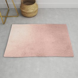 Blush Rose Gold Ombre  Rug