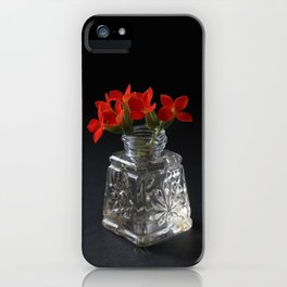 Red Succulent Blossoms iPhone Case