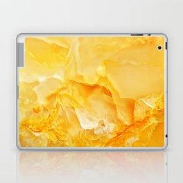 Yellow onyx marble Laptop & iPad Skin