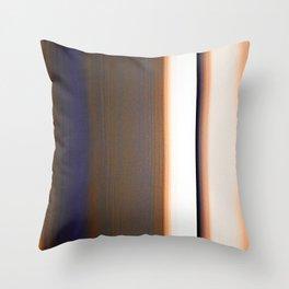 Brown White Dark Blue Ombre Stripes Throw Pillow