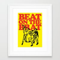 ramones Framed Art Prints featuring Beat on the Brat by Sellergren Design - Art is the Enemy