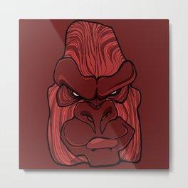 Gorilla - Chile Oil Red Metal Print
