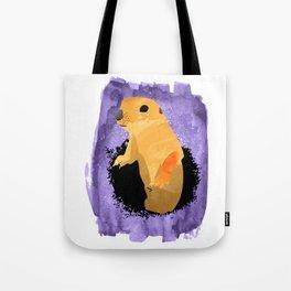 animal Groundhog watercolor hand draw Tote Bag