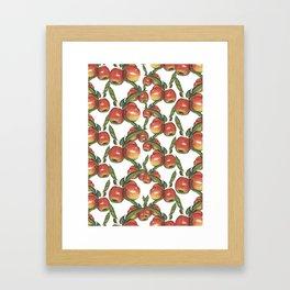 Hand Drawn Apple surface pattern deign Framed Art Print