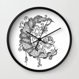Entangled Moon Wall Clock