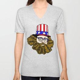 Allen Ginsberg Unisex V-Neck