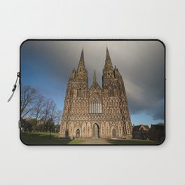 Stormy Clouds Over The Lichfield Cathedral Laptop Sleeve