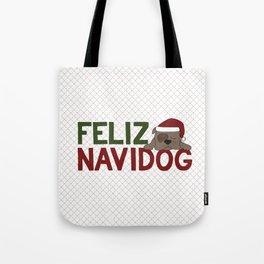 Feliz Navidog Tote Bag