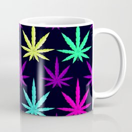 Colorful Marijuana Weed cool tone Coffee Mug
