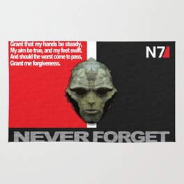 NEVER FORGET - Thane Krios - Mass Effect Rug