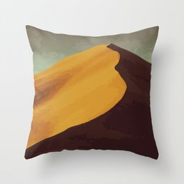 Athabasca Sand Dunes Poster Throw Pillow
