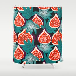 Colorful figs and leaves Shower Curtain