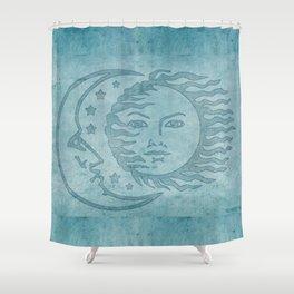 Sun Moon And Stars Batik Shower Curtain
