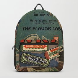 Vintage 1918 Wrigley's Chewing Gum Advertisement with sailors Backpack