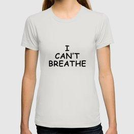 Black Lives Matter I can't breathe T-shirt