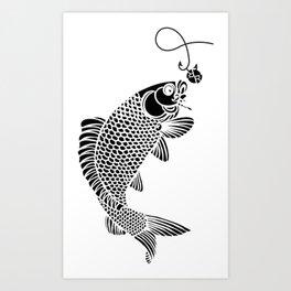 Fish Fishing Fisherman Aquarium Tropical Rainbow Beautiful Fish Angler Ocean Water Sea Rubino Art Print