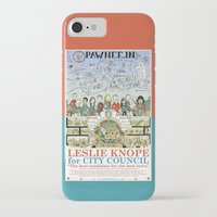 parks and recreation iPhone & iPod Cases featuring Leslie Knope for City Council - Parks and Recreation Dept. by Jasey Crowl