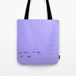 modern sentences, Kimberly Grey Tote Bag