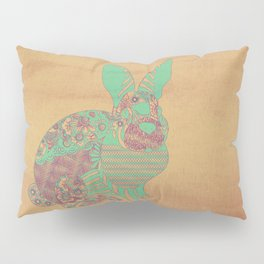 Bunny in Patterns Pillow Sham