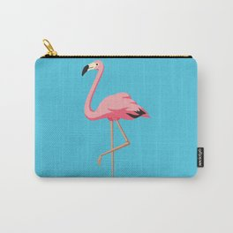 the Flamingo - vintage style illustration Carry-All Pouch