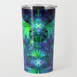 The Clockwork Kite Wings of a Blue-Green Dragonfly Travel Mug
