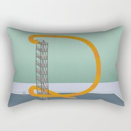 Down we go Rectangular Pillow