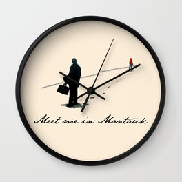 Meet Me In Montauk Wall Clock
