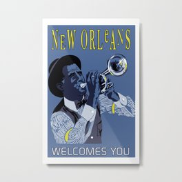 New Orleans welcomes you Metal Print