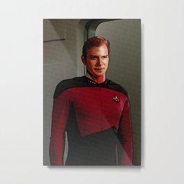 James Tiberius Kirk in TNG uniform Metal Print