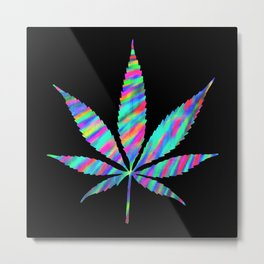 Weed : High Time Colorful Psychedelic Metal Print