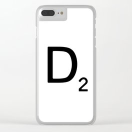Letter D - Custom Scrabble Letter Wall Art - Scrabble D Clear iPhone Case