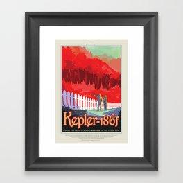 Kepler-186f Framed Art Print