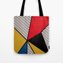 Primary Colors and Stripes Tote Bag