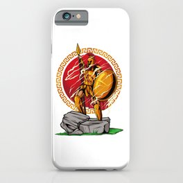 Victorious Spartan Warrior - Heroic Pose iPhone Case