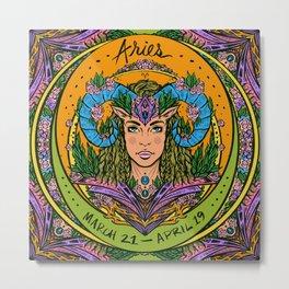 Zodiac: Aries Metal Print
