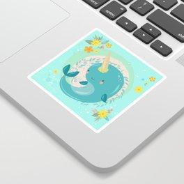 Pretty Princess Narwhal Sticker