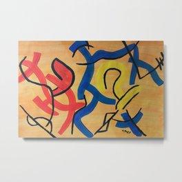 Abstract Signs Metal Print