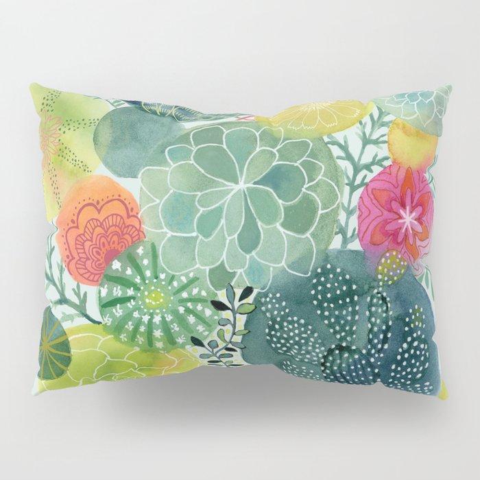 Succulent Circles Pillow Sham