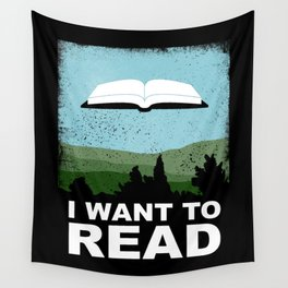 I Want to Read Wall Tapestry