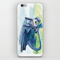 how to train your dragon iPhone & iPod Skins featuring How to Train Your Dragon - Toothless by PinStripes Studios