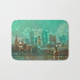 Melbourne Waterfront Abstract Bath Mat