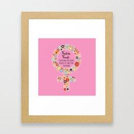 Fearless Female Pink Framed Art Print